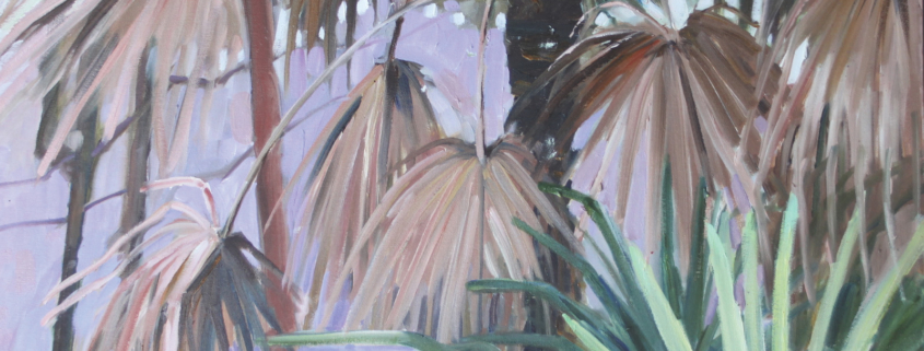 Pim Sarti, Cabbage Palm. Oil on canvas, 70 x 70cm.