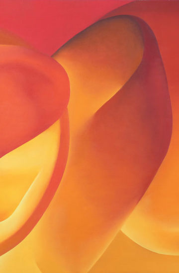 Kate Bender, Into His Fiery Heart. Oil on canvas, 84 x 152cm.