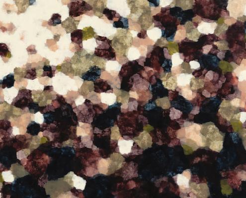 Hannah Fox, Last Phase. Oil on canvas, 126 x 202cm.