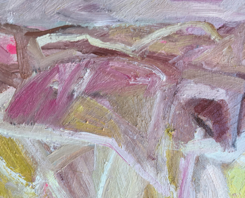 Louise Vadasz, Cliffs Port Willunga. Oil on canvas, 60 x 50cm.