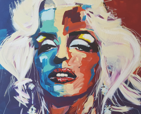 Rudy Mulder, Marilyn. Acrylic on canvas, 76 x 102cm.